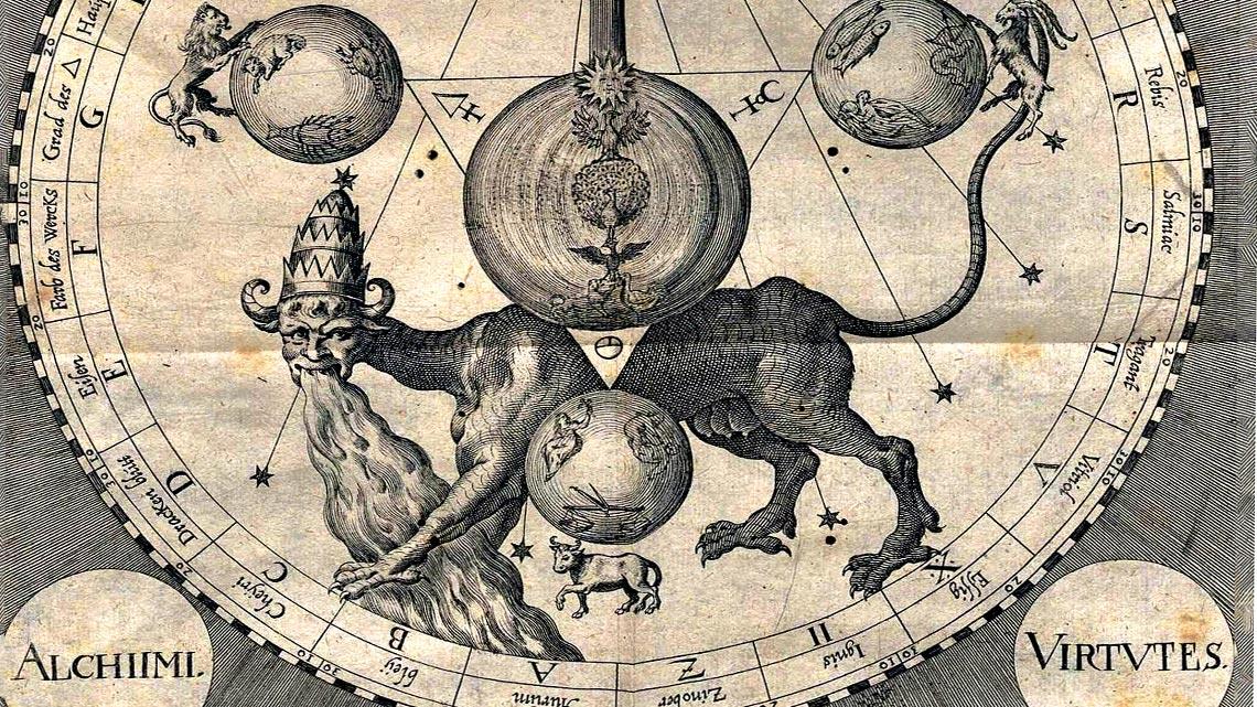 i quettro elementi alchemici immagine