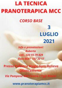 SEMINARIO DI TECNICA PRANOTERAPICA MCC - CORSO BASE @ Palestra Magic Gym - Believe OlisticaMente
